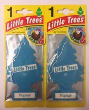 2 x Little Tree Magic Tree TROPICAL Car Air Fresheners Freshners