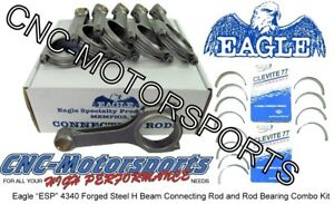 Ford 3.8L V6 Supercharged Eagle Rods, H Beam with Rod bearings