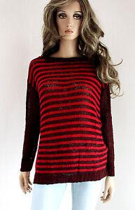 RINASCIMENTO Damen Pullover Strickpullover Wollmischung M 38 rot bordeaux