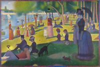 Modern Sunday on the Island of La Grande Jatte Seurat Art Humor Poster - 12x18