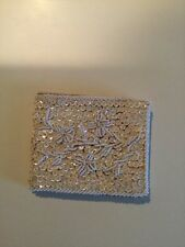 vtg beaded and sequinned evening wallet from hong kongj