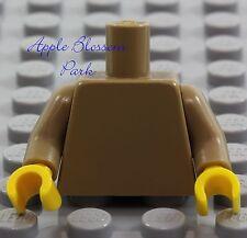 NEW Lego Girl/Boy Minifig Plain DARK TAN TORSO - Blank Body Upper w/Yellow Hands