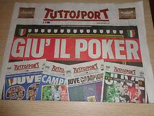 INSERTO SUPPLEMENTO TUTTOSPORT GIU' IL POKER JUVENTUS 4 VOLTE CAMPIONE D'ITALIA