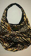Betseyville Black & Gold Animal Print Sling Hobo Bag Shoulder bag