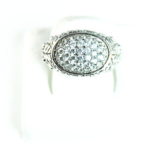 Beautiful Tacori Domed CZ Pave Cluster Sterling Silver Ring Size 8