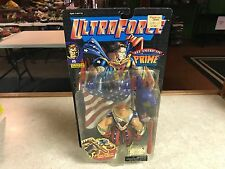 1995 Galoob Ultra Force ALL AMERICAN PRIME Hero Action Figure MOC