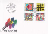 SW86) Switzerland 1991 Pro Patria - 700th Anniversary Of The Art & Culture FDC.