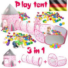 3in1 Spielzelt +Krabbeltunnel +Bällebad Kinderzelt Tasche Spielhaus Babyzelt neu