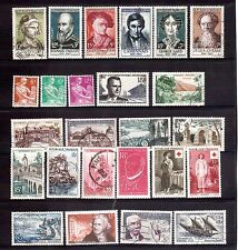 FRANCE 1957 page incl Nat Relief Set used & MLH
