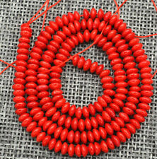 Fine! 2x4mm Red Coral Gems Abacus Loose Beads 15 ""