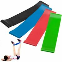 Resistance Band Elastic Workout Rubber Loop Fitness Strength Training Expand 4pc