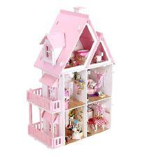 Dream Alice Villa DIY Wood Dollhouse Light Miniature Furniture Kits Big Kid Gift