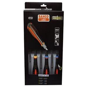 Bahco BE-9882TB ERGO Through Blade Screwdriver Set, 6 Piece