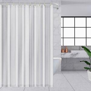 Thick Water Resistant 100% Vinyl Bathroom Shower Curtain White Bathtub Drapes