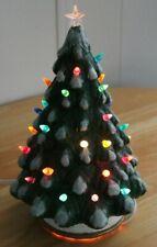 "CERAMIC LIGHT UP CHRISTMAS TREE 11"" tall"