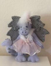 "DEB CANHAM ""CHINA FAIRY DRAGON"" MINIATURE DRAGON -LAVENDAR BLUE ULTRASUEDE"