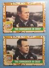 1991 Desert Storm war card George Bush-The Commander In Chief-x2(rare brown inc)