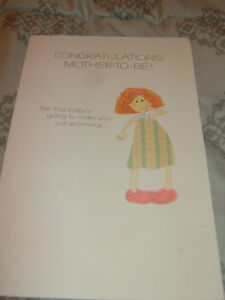 CONGRATULATIONS, MOTHER-TO-BE! Greeting Card