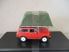1ST MODELS 1:43  1981 LADA NIVA with ROOF TENT...RED...nice  colour!