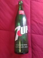 Vintage Collectible 7up 16oz Glass Soda Bottle