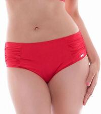 Abbigliamento, taglia comoda parti basse bikini rosso per il mare e la piscina da donna