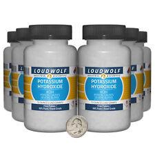 Potassium Hydroxide 38 Pounds 6 Bottles 99 Pure Food Grade Fine Flakes