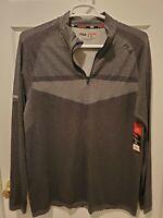Fila Sport Mens Long Sleeved Running Shirt Sleeve Pocket 1/4 ZIP Size XL NWT