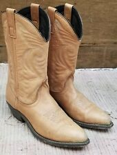 Masterson Women's Cowboy Western Cowgirl Boots Brown Leather Snip Toe Boho 7 M