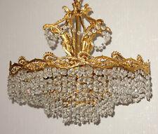 Wunderschöne Alte Messing-Bleikristall Kronleuchter, Lüster 10 Flammig