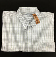 RM Williams Stockyard Men's Dundee Downs Button Down Check Shirt 5XB NEW