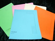 GUILDHALL A4 230mm STURDY SLIPFILES 230gsm BOARD PACK OF 5 ASSORTED