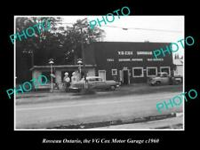 OLD 8x6 HISTORIC PHOTO OF ROSSEAU ONTARIO CANADA THE COX MOTOR GARAGE c1960
