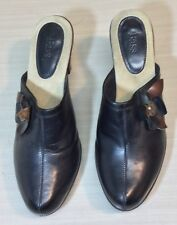 Womens Bass Clogs Mules Slip On Brown Shoes Size 9.5