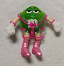 "M&M Green Character 8.5"" Plush Stuffed Toy Doll w/ Boots & Rain Slicker GALERIE"