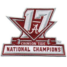 2017 ALABAMA NATIONAL CHAMPIONS NCAA OFFICIAL FOOTBALL PATCH CRIMSON TIDE