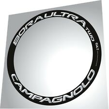 CAMPAGNOLO BORA ULTRA TWO ALL WHITE 3D DESIGN REPLACEMENT RIM DECAL SET