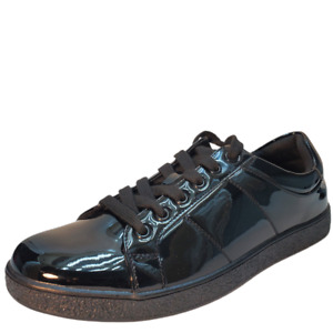 INC International Concepts INC Men's Spyke Sneakers Patent Black 8.5M MSRP 79...