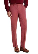 """HACKETT Sanderson Tailored Fit Chinos Trousers Coral Size 28""""W 31.5""""L"""
