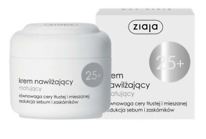 ZIAJA FACE CREAM MOISTURIZING MATTIFYING OIL & MIXED SKIN SEBUM REDUCTION 25+