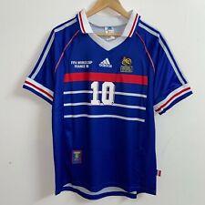 Maillot ZIDANE EQUIPE DE FRANCE 1998 RETRO / Taille : S,M,L,XL,XXL / Adidas