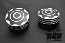 Achscover set 2 harley davidson softail touring sportster dyna Noir Chrome Cut
