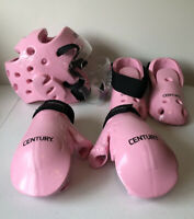 Century Martial Arts Sparring Gear- Helmet & Gloves Adult Small, Boots Size 3-4