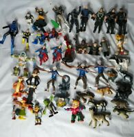Random Action Figure And Animal Lot