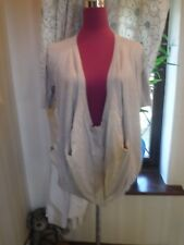 Stunning All Saints Wilful Cardigan  Beige  Size 8 (8-12) Excellent Condition