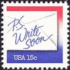 US - 1982 - 15 Cents PS Write Soon Letter Writing Commemorative Issue #1810 NH
