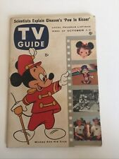 TV Guide Oct 1-7 1955 Mickey Mouse on Cover
