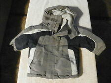 FADED GLORY WINTER JACKET DETACHABLE HOOD BLUE GRAY WHITE TODDLER BOYS SZ 12 MON