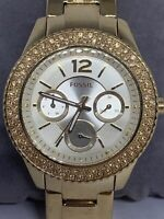Fossil ES3589 Stella Multi-Function Champagne Dial Gold-tone Women's Watch Ee6