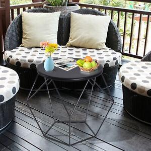 Coffee Table Side Table Nordic Minimalist Style Steel Frame LivingRoom Furniture