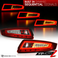 "For 05-08 Porsche 997 911 Carrera Targa ""SEQUENTIAL SIGNAL"" RED OLED Tail Light"